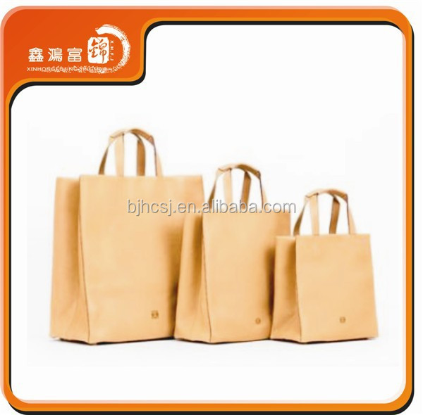 Hot sale recyclable customized grocery brown kraft paper bag