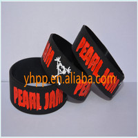Pearl Jam Silicone Debossed Wristband Bracelet For Music Fans
