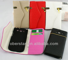 High Quality Flip Zipper Wallet PU Leather Case Cover For Samsung Galaxy S3 i9300