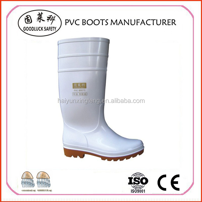 Impact-Resistance PVC Knee High Boots S4/S5, Safety PVC Boots