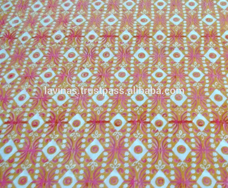 Cotton Hand Block Printed Floral Pure Sanganeri Jaipuri Fabric Textile / Fabric / 100% Cotton Fabric
