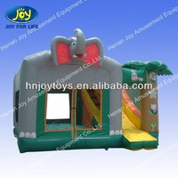 mighty jumping,kids inflatable bouncy castle with cute elephant style