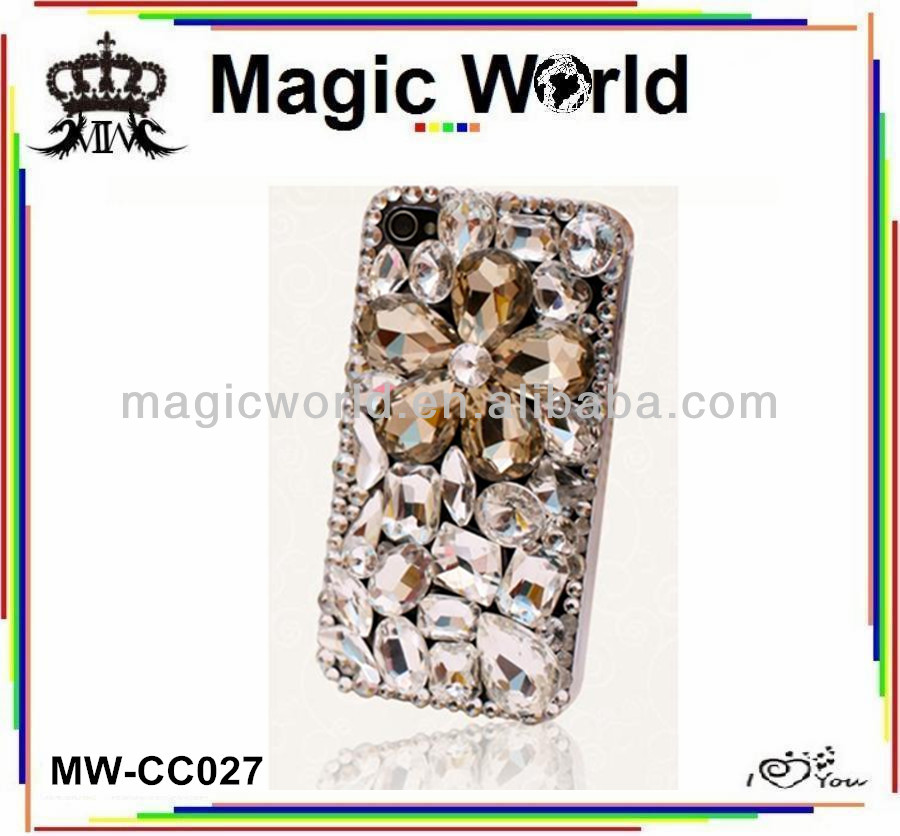 rhinestone jeweled crystal bling phone case for blackberry