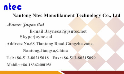 Polyester monofilament yarn for greenhouse with high strength 0.20mm 0.25mm 0.30mm white color