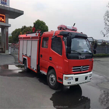 DongFeng double cabin 4000L fire truck water capacity water tower fire truck