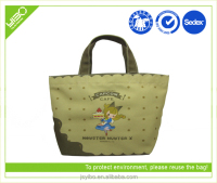 high quality polyester cotton shopping bag for children