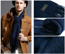 Mens winter solid cashmere scarf