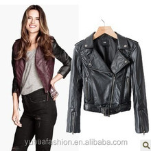 Slim leather jacket PU leather women's motorcycle,european leather motorcycle jackets