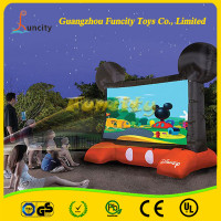 2015 outdoor advertising inflatable movie screen/giant inflatable projector screen sale movie