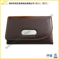 Handmade Good Quality PU Card Wallet And Leather Wallet Card Holder Case