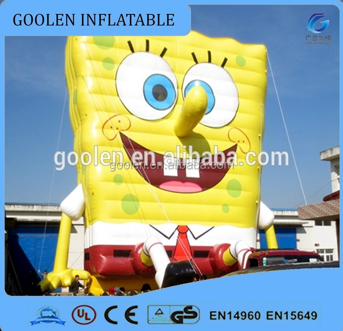 SpongeBob inflatable cartoon characters, outdoor 15m tall cartoon characters