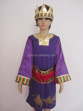boy's purple cosplay king carnival costumes for teens