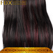 Malaysia shining full lace wig with baby hair&clip ombre red hair straight hair can be dyed
