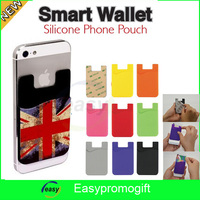 Hot sale silicone mobile phone case card holder wallet