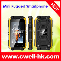 Mini J5 Android IP54 Waterproof Smartphone MTK6572W Dual Core 2.4 Inch Touch Screen WIFI WCDMA 3G Rugged Phone