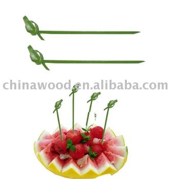 looped skewer for food