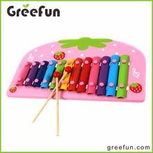 Strawberry Shape Xlophone Musical Instruments Prices Wooden Xylophone For Wholesale