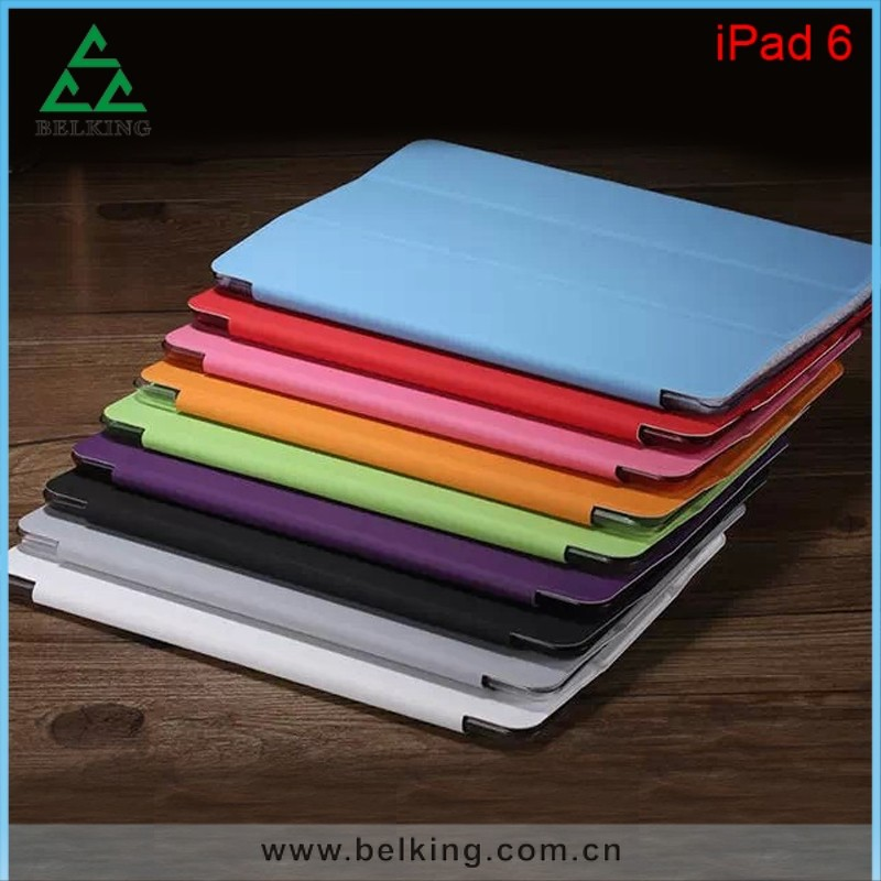 3 folding leather case for iPad air 2 smart cover, For iPad Smart cover case