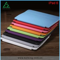 3 folding leather case for iPad air 2 smart cover, for iPad Smart cover