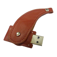cheap leather pen drive 1g 8gb usb flash drive