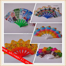 personalized customer shaped mini paper hand fans for promotion or event