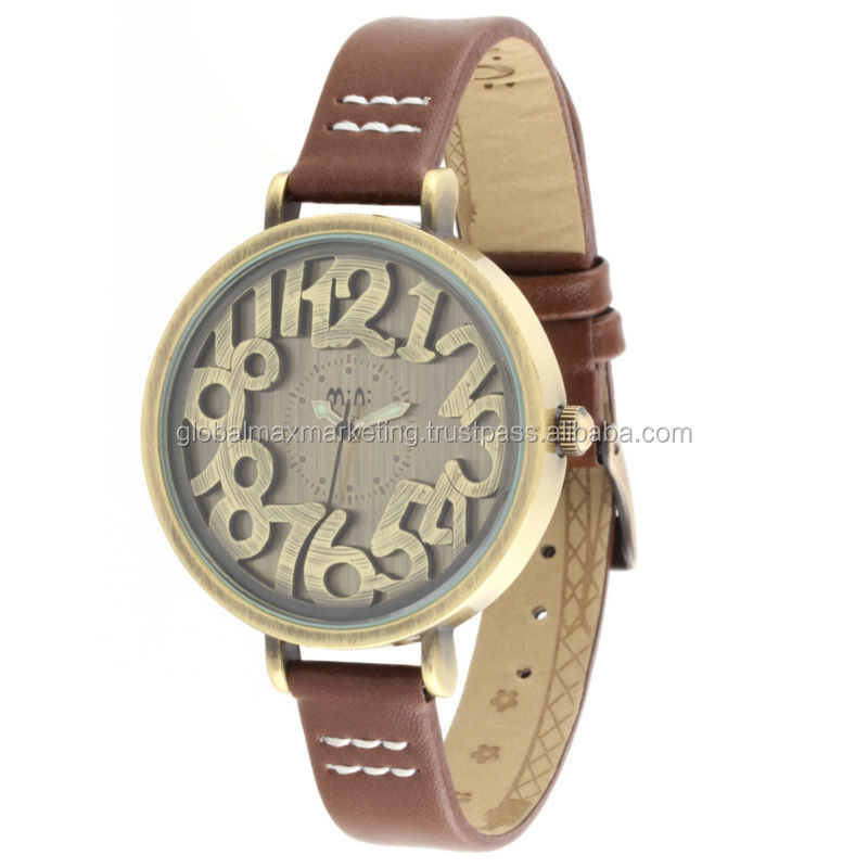 Hot Selling Retro Embossed Surface Watches