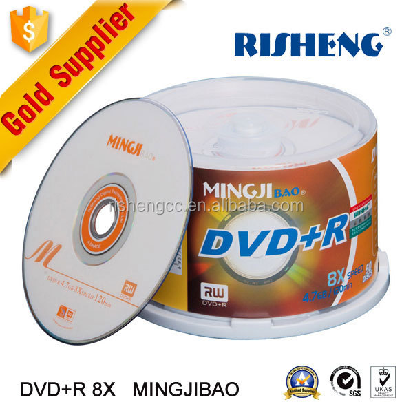 Risheng wholesale price of silver hard disc dvd with printing / best price A++ Grade 16X blank media disks dvd-r