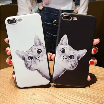Factory price Lovely Pet Cat TPU Mobile Accessories Case for iphone 7 7plus 8 8plus
