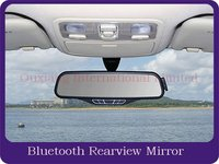 car bluetooth rearview mirror with fm transmitter