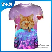 fashion custom sublimation all over heat transfer men t shirt printing