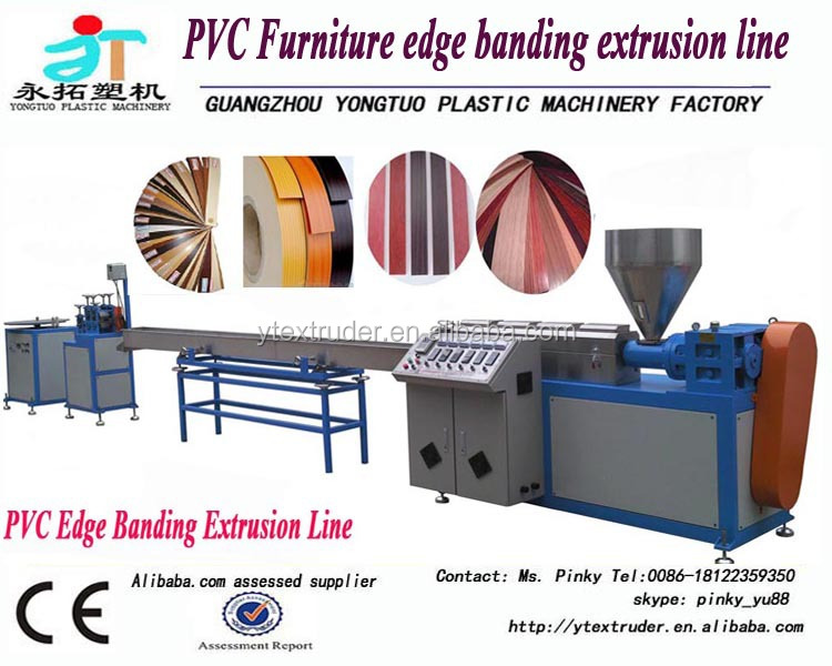 Factory wholesale furniture using PVC/ABS edge banding extrusion <strong>line</strong>/production <strong>line</strong>