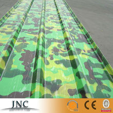camouflage Corrugated sheets galvanized fiber kinds shape steel aluminum patio PPGI sheet galvanized color aluminum roofing