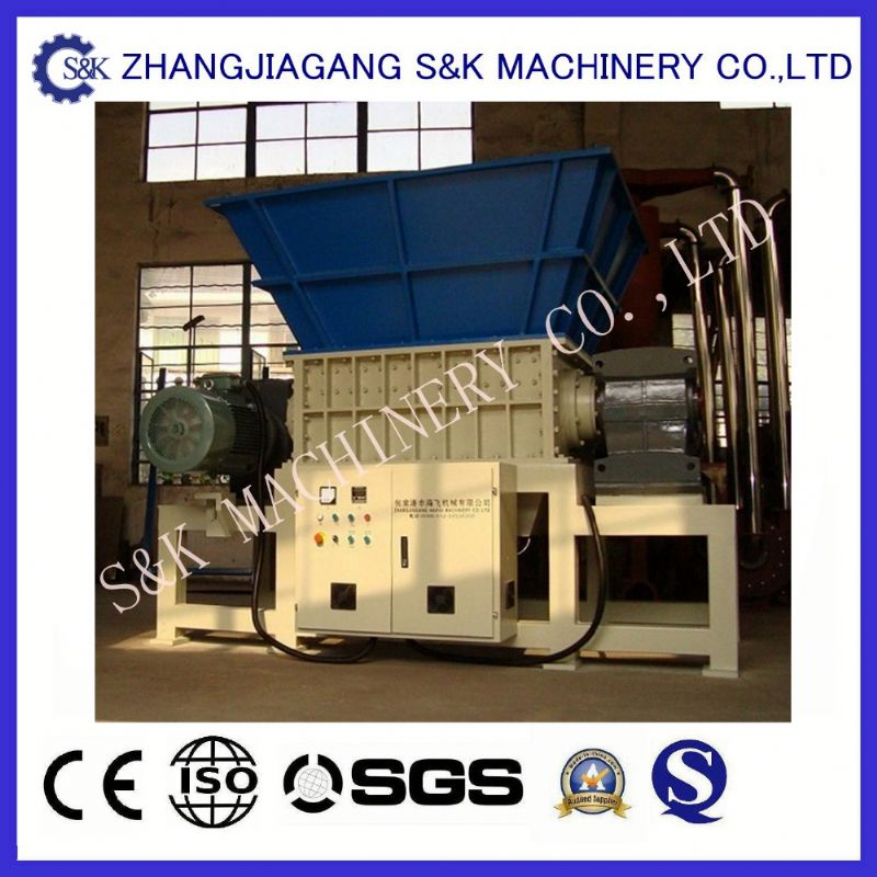 Low price recycling aluminum soda metal can shredder double shaft waste bottle plastic crusher blades for sale