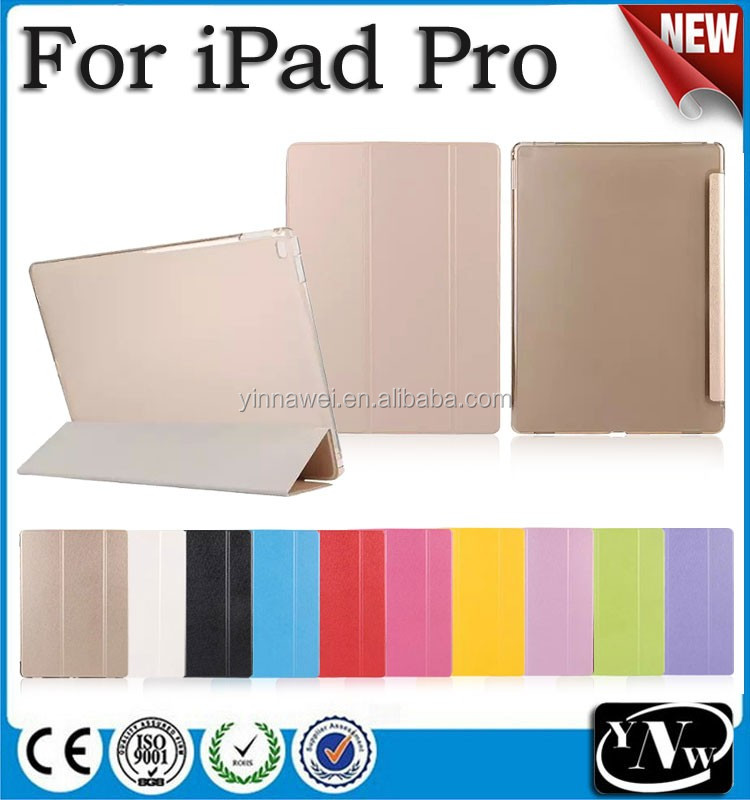 Threes Folding Leather Tablet Cover Flip Silk Print Case for iPad pro for iPad Air 2