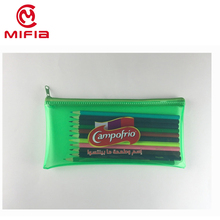Cheap promotional school stationery set transparent soft clear plastic pvc pencil case