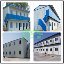 G+1 prefabricated EPS sandwich panel house for temperory accommodation