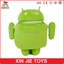 2016 new design plush android doll toy high quality soft android robot doll