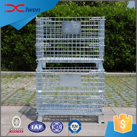 China manufacturer supply lockable metal wire mesh storage cage with wheels
