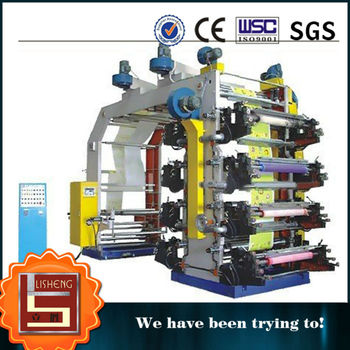 LISHENG six-color high speed fiexographic printing machine to roll material, high quality