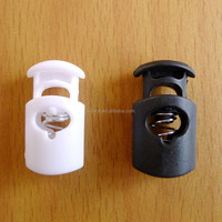 Spring Press Button For Garment, ABS Plastic Spring Stopper , Cord Lock For Bag