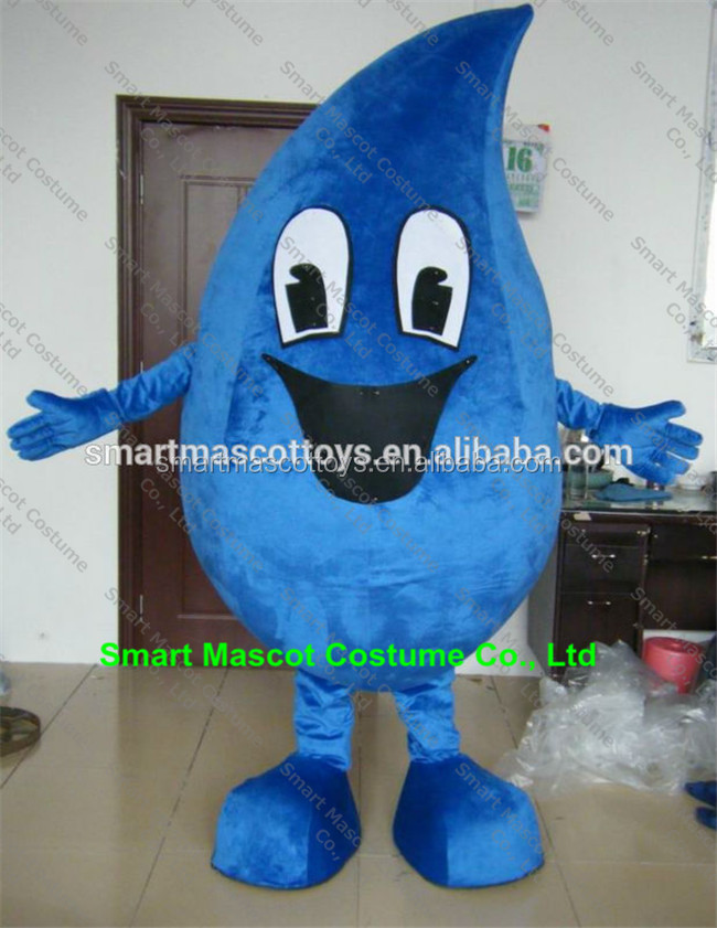 raindrop mascot costume for adult blue water drop costume