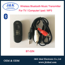 BT-02N Hot selling usb wirelesss audio music Bluetooth transmitter receiver