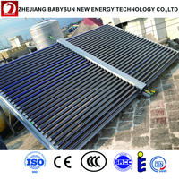 New technology solar collector pressurized split vacuum tube heat pipe for hotel