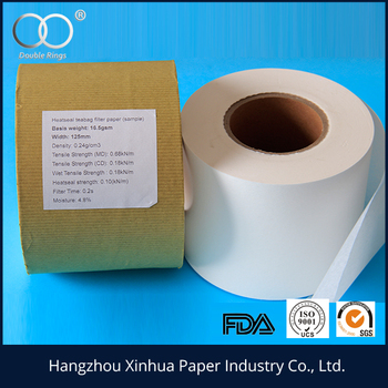 Width 125mm 16.5gsm-28gsm food grade tea bag filter paper in roll