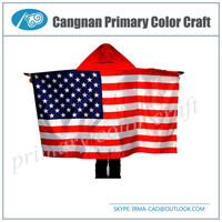New type national flag funny flags Satin body flag sport wear