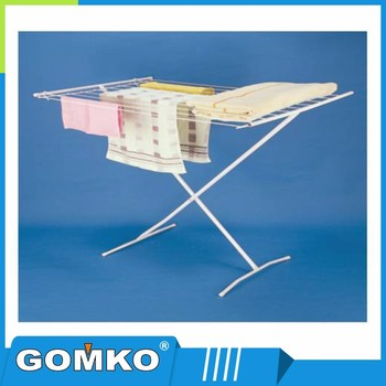 Fashion design stainless steel outdoor clothes drying rack with bule connectors