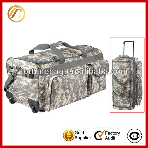 Camouflage portative military travel bag