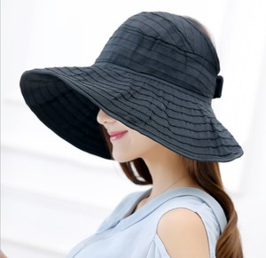 foldable lady beach polyester sun visor hats