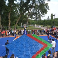2016 Cheaper Quality outdoor basketball flooring 13mm