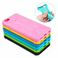 Bright Color Strong Protect Silicone Cell Phone Case For Iphone 6 6P